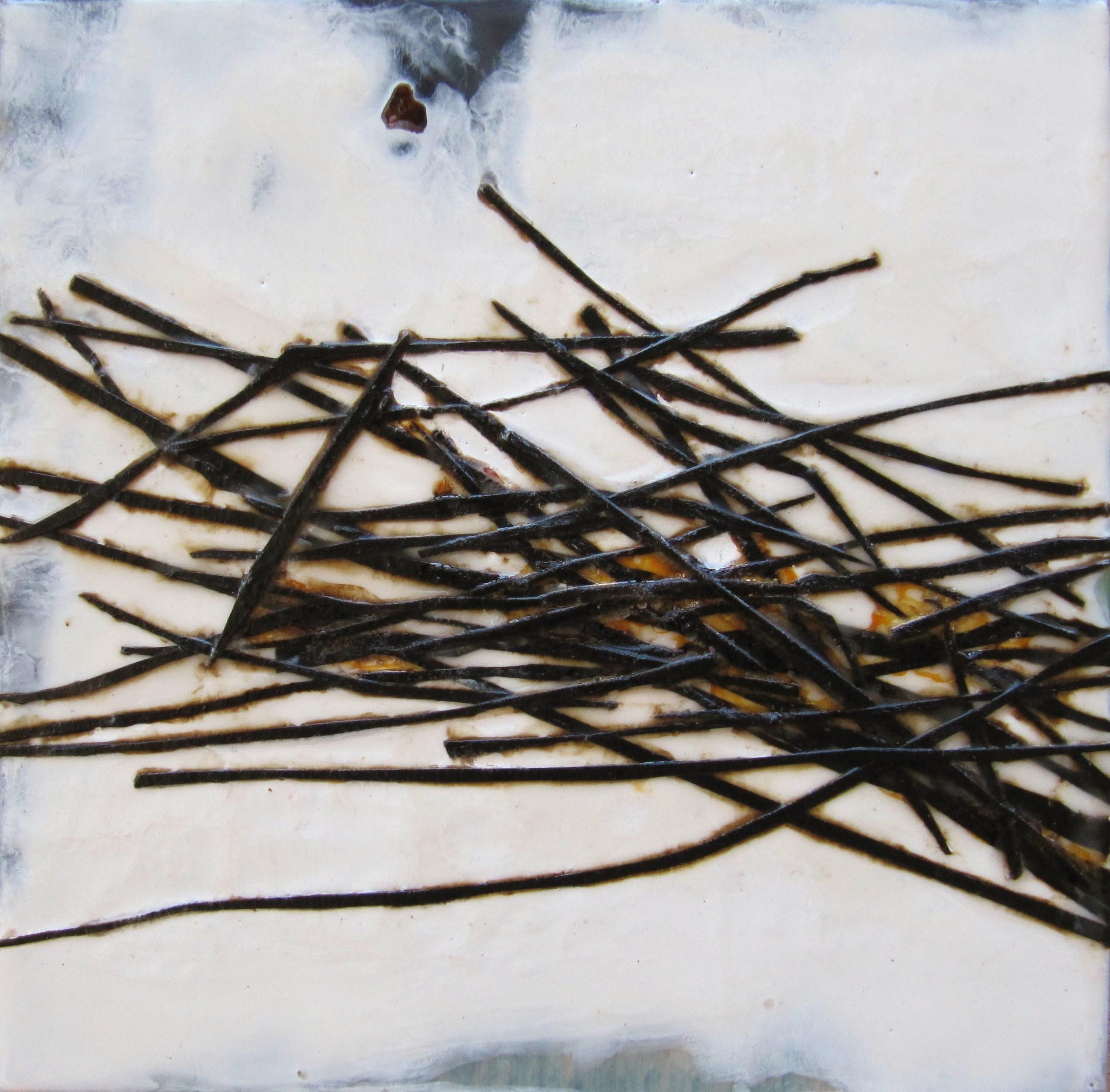 Styx, 2009 / Encaustic on wood panel, 10 x 10 / Sold