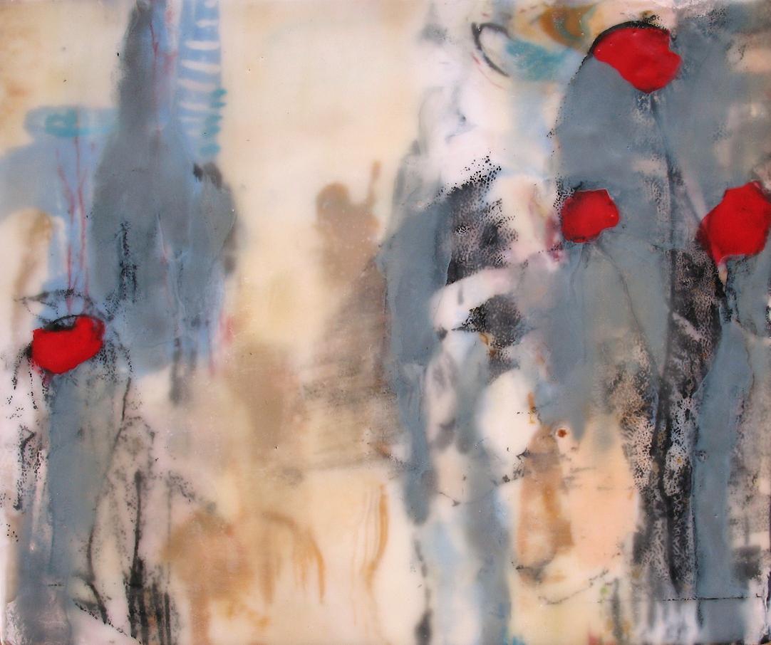 Leo, 2007 / Encaustic on wood panel, 10 x 12 / Sold