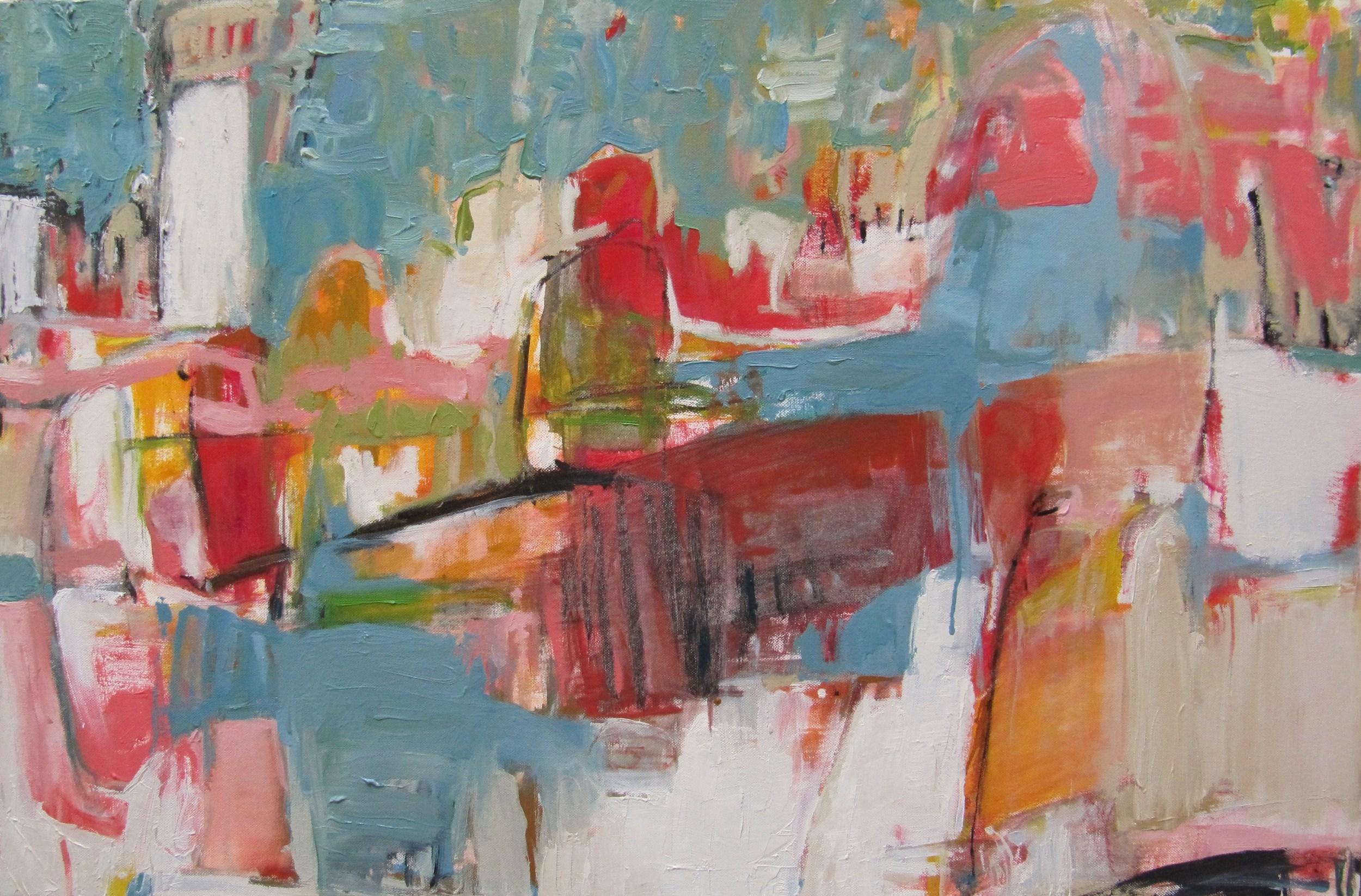 Beachcomber,2009 / Oil on canvas,24 x 36