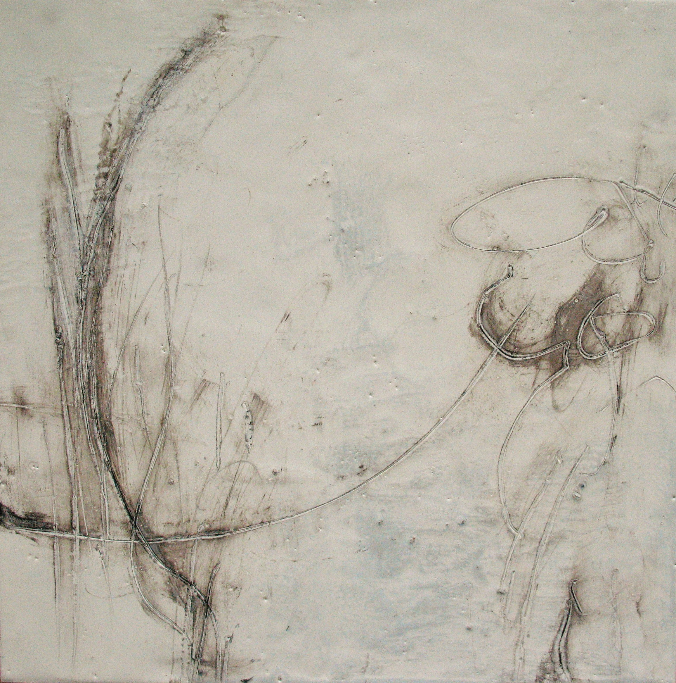 Untitled, 2008 / Encaustic on wood panel, 12 x 12 / Sold