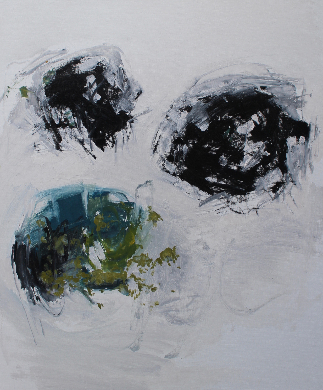 Black Cloud 2, 2017 / Oil on linen panel, 24 x 20