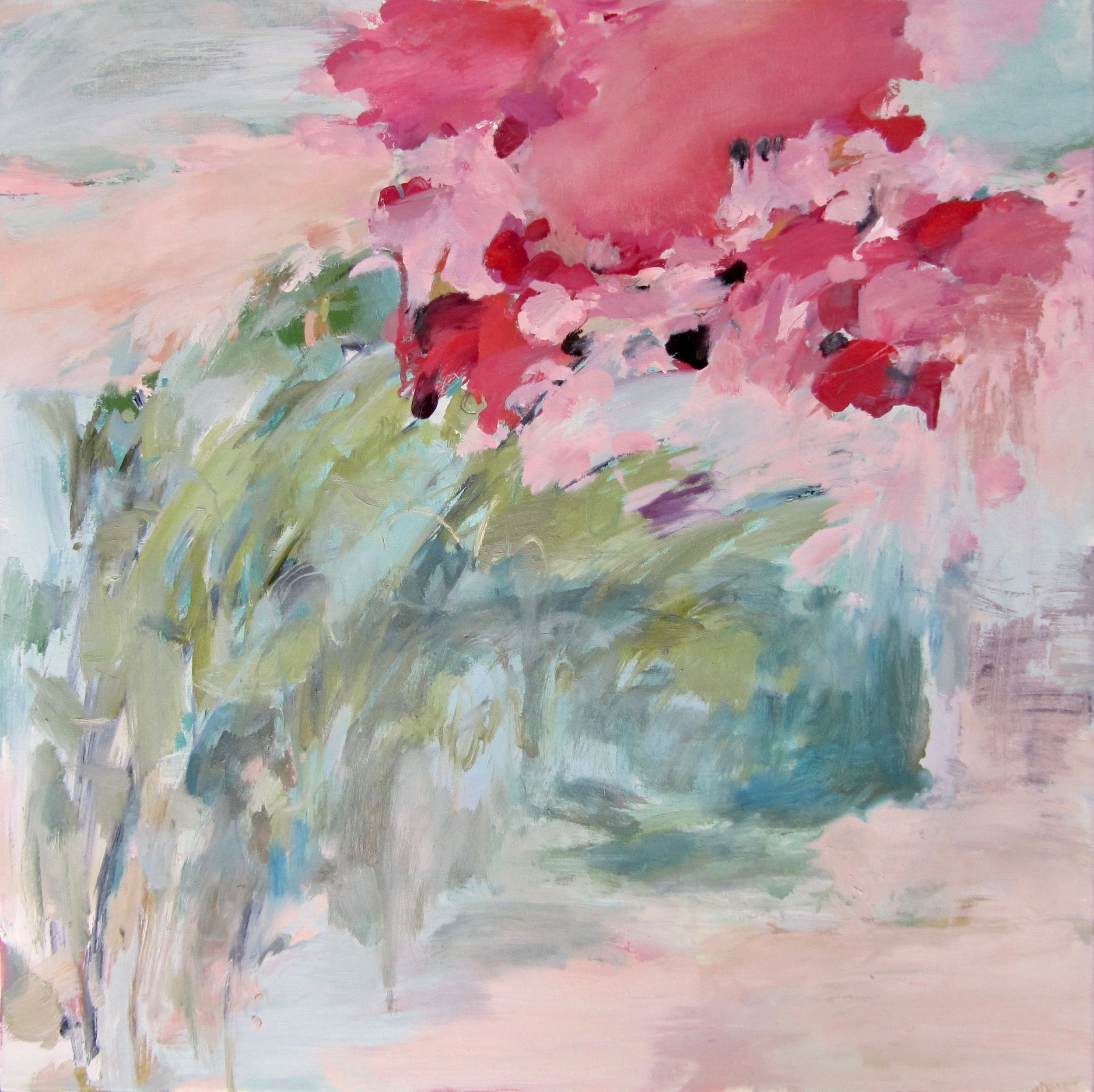 Borrowed Roses, 2018 / Oil on canvas, 24 x 24