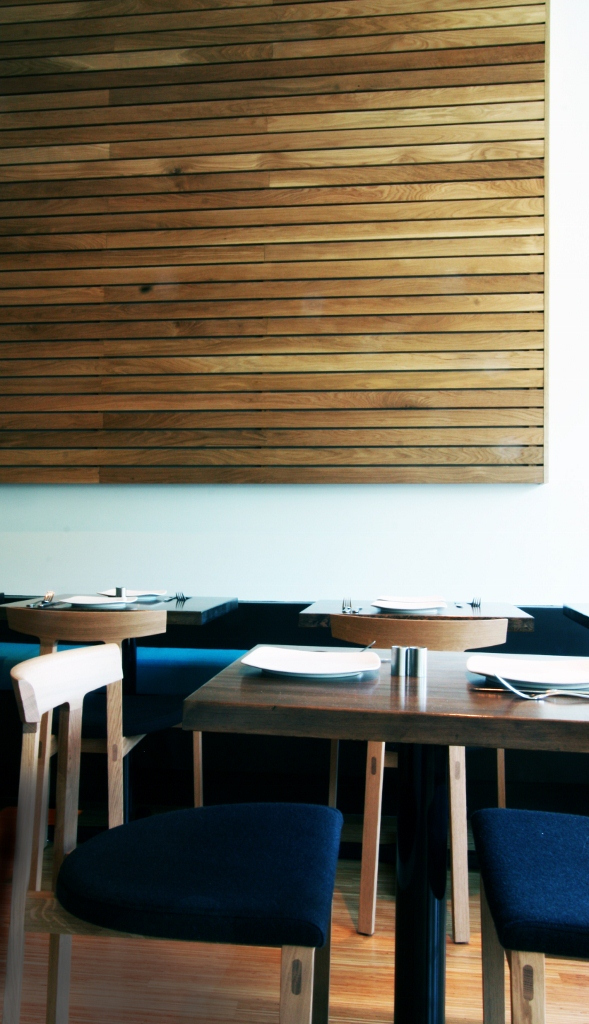 modern restaurant seating area