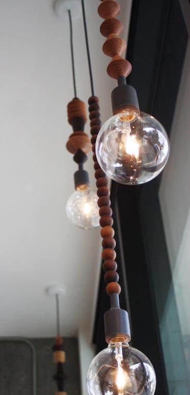 Beaded pendant lighting