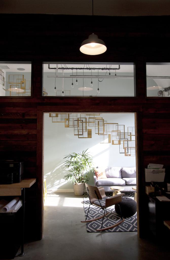 Open Reclaimed Wood Office