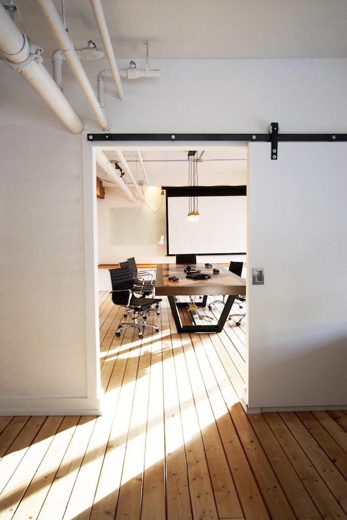 White, Modern Barn Doors