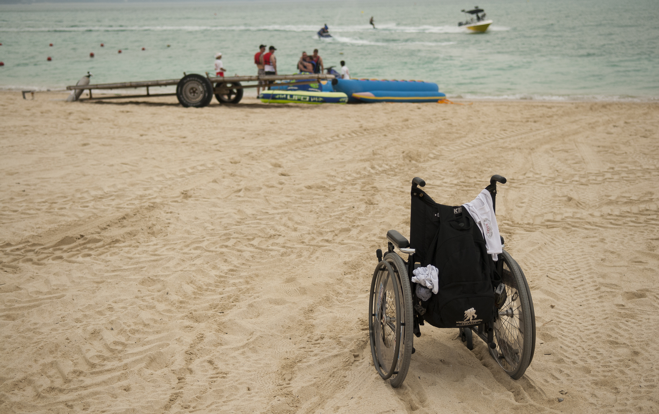 Tim Jeffers left his wheelchair behind and went jet skiing with his brothers.