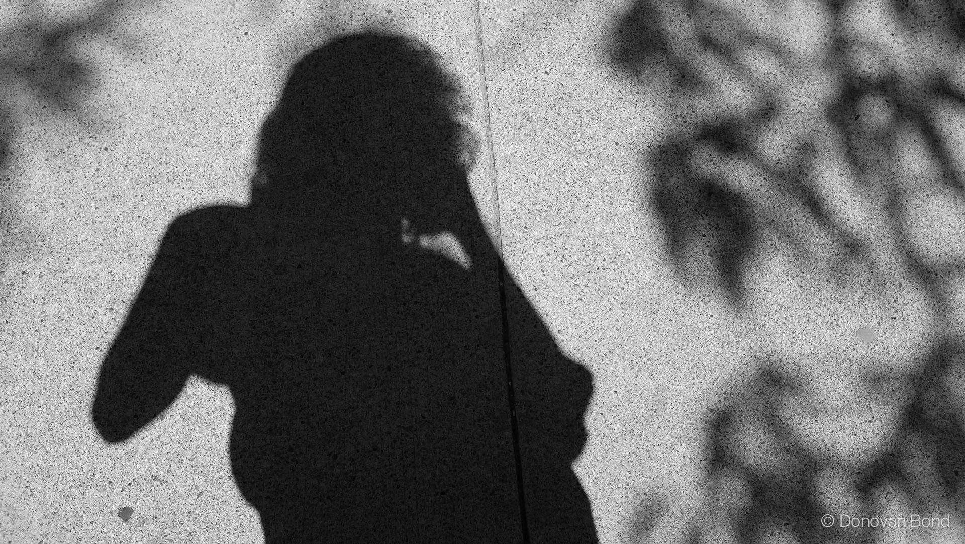 Selfie silhouette.