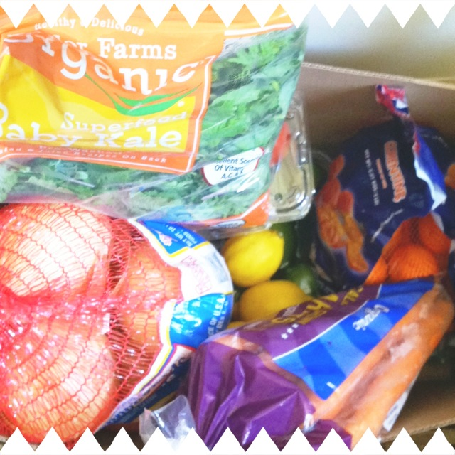 Some of the produce bought on a trip to Costco.