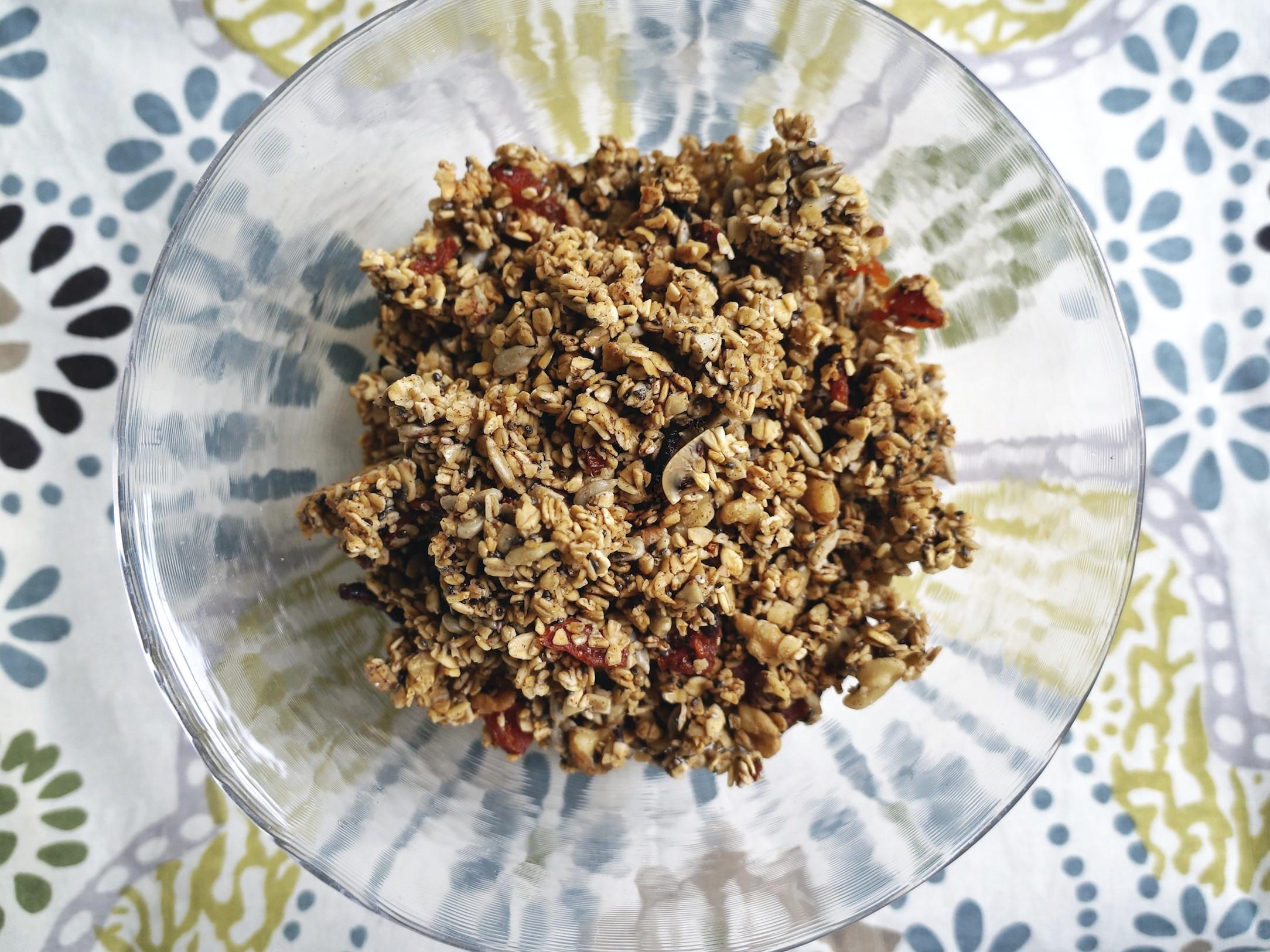 healthy, homemade granola via sarahdigrazia.com