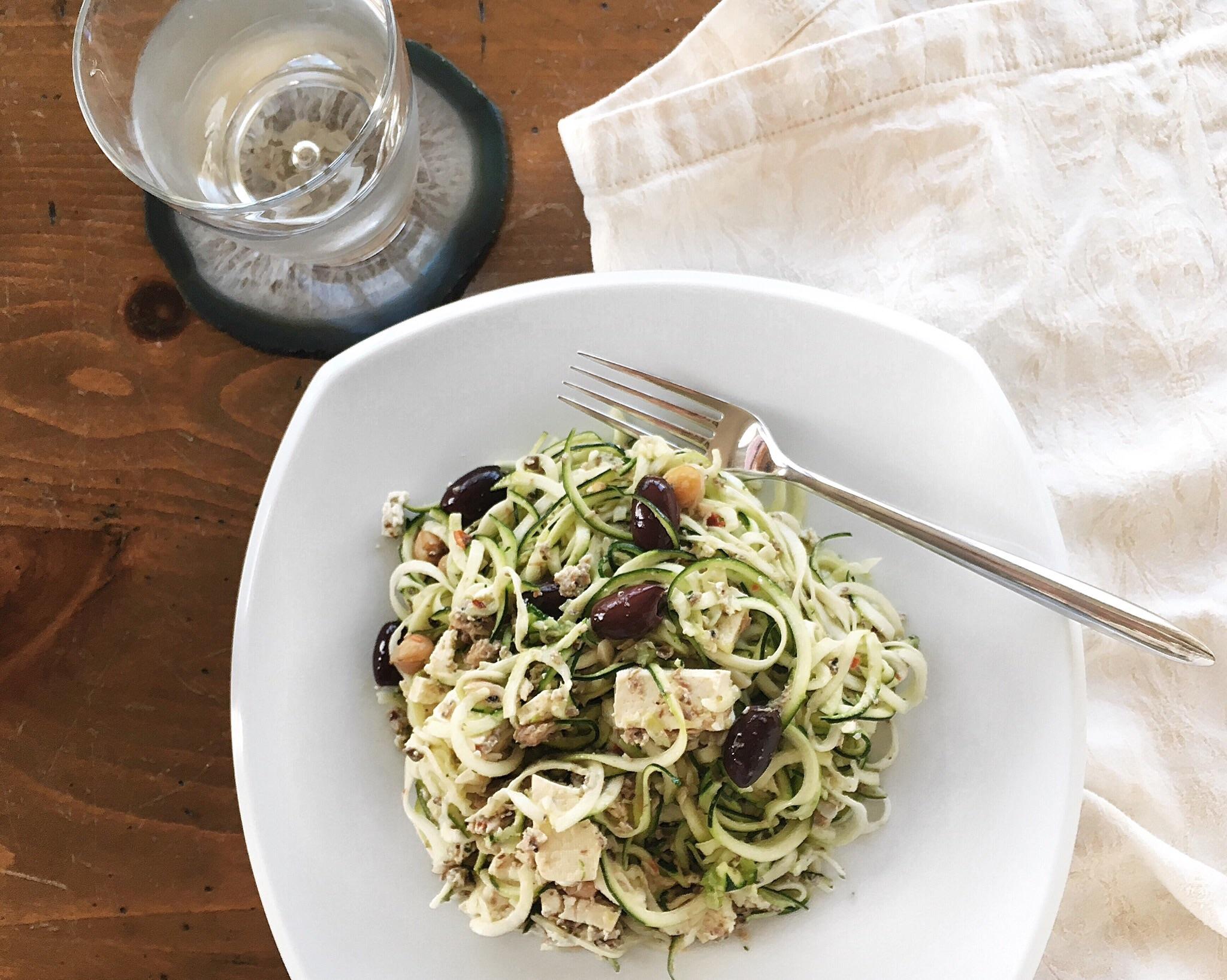gluten free, high protein zucchini pasta
