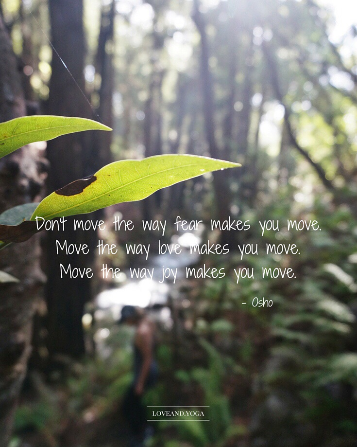 move the way love makes you move.