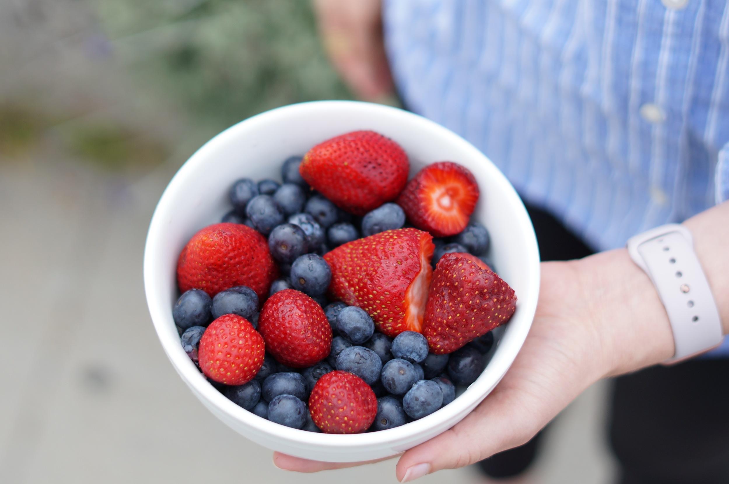 simple pleasure: fresh, local berries