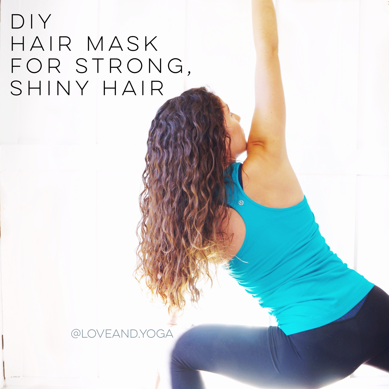 diy hair mask for strong, shiny hair