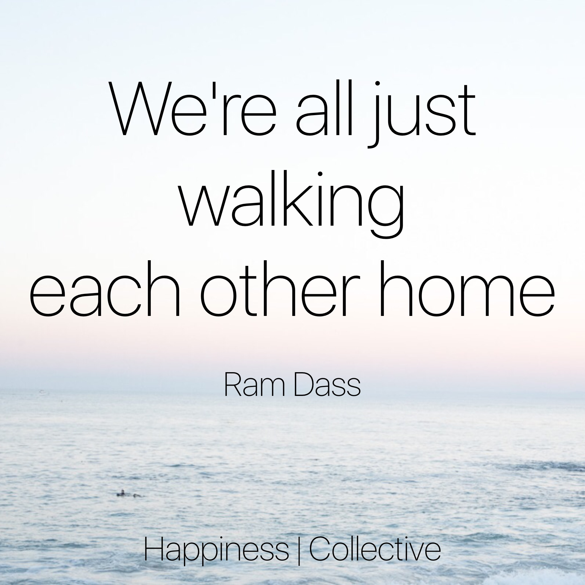 We're all just walking each other home. -Ram Dass