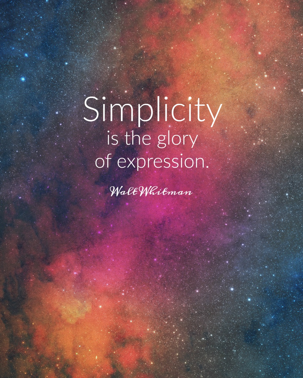 Simplicity is the glory of expression. Walt Whitman. Circle of Daydreams. www.circleofdaydreams.com