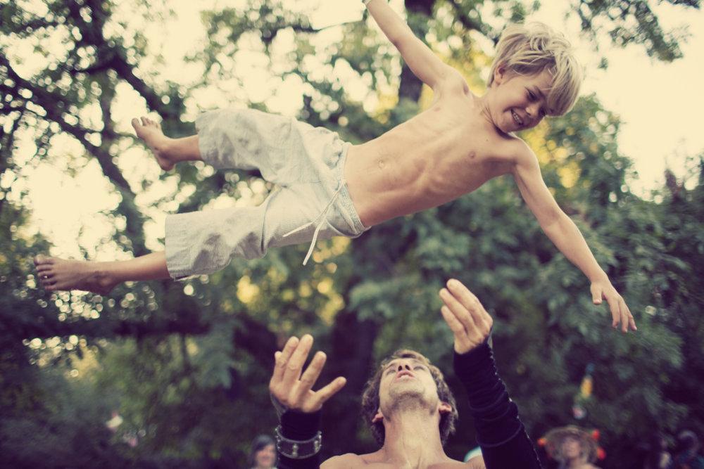 Boy in the air. Zippy Lomax