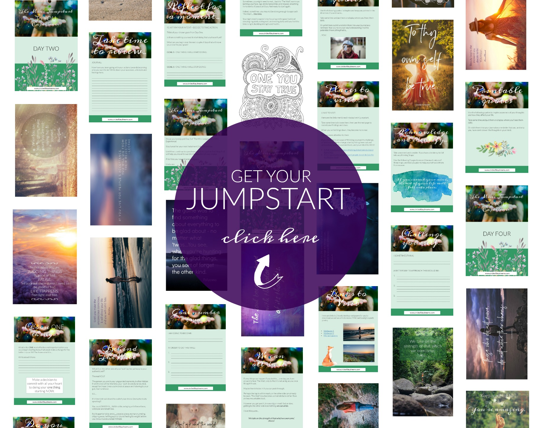 Get Your Mini Jumpstart Today Click Here. Circle of Daydreams. www.circleofdaydreams.com