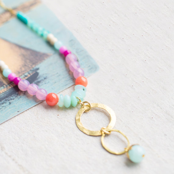 Gemstone Necklace from Nest Pretty Things Shop on Etsy