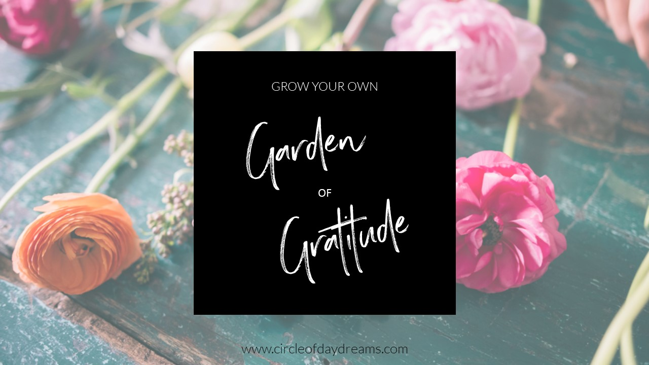 Grow Your Own Garden of Gratitude. A unique and creative gratitude journal. The Garden of Gratitude. Circle of Daydreams.