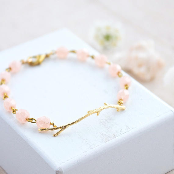 Rose Quartz Bracelet with Gold from Nest Pretty Things. Circle of Daydreams. www.circleofdaydreams.com
