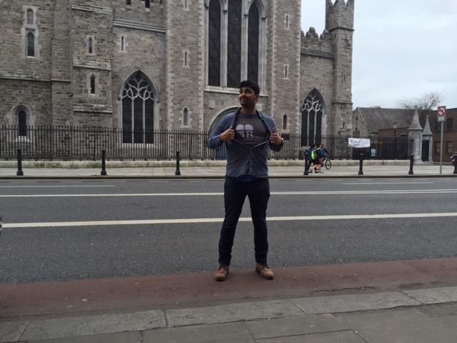 Ibrahim representing Benecure in Dublin