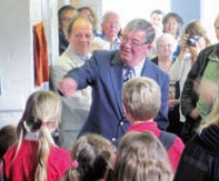 Ken Gregory opening the renamed Hall in Cuckfield