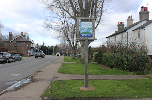 7) - Cuckfield Sign, London Road