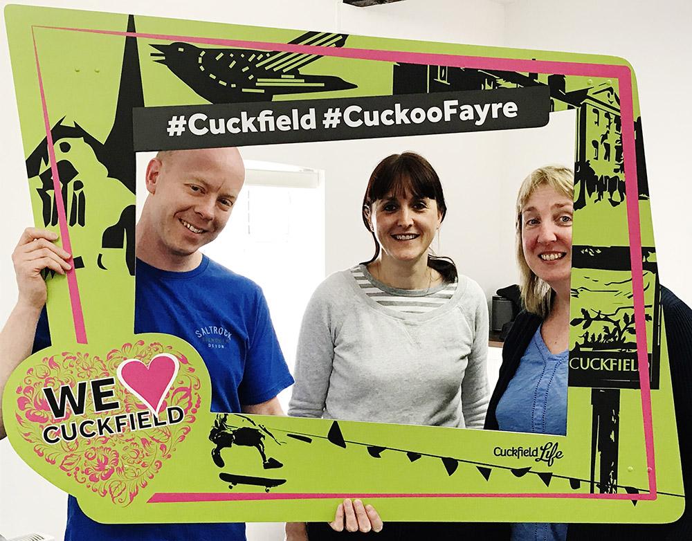 Cuckfield Life stall at Cuckoo Fayre on 7th May 2018