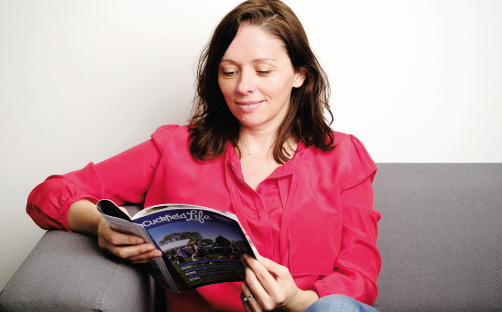 Jacqueline Elmore, assistant editor, Cuckfield Life