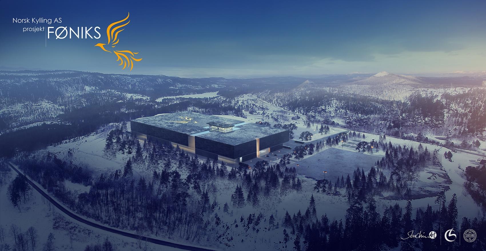 Prosjekt Føniks - Norsk Kylling AS - nytt næringsbygg/industri i Trondheim - 2017  Arkitekt: Cleve Broch AS  ca 40.000m2