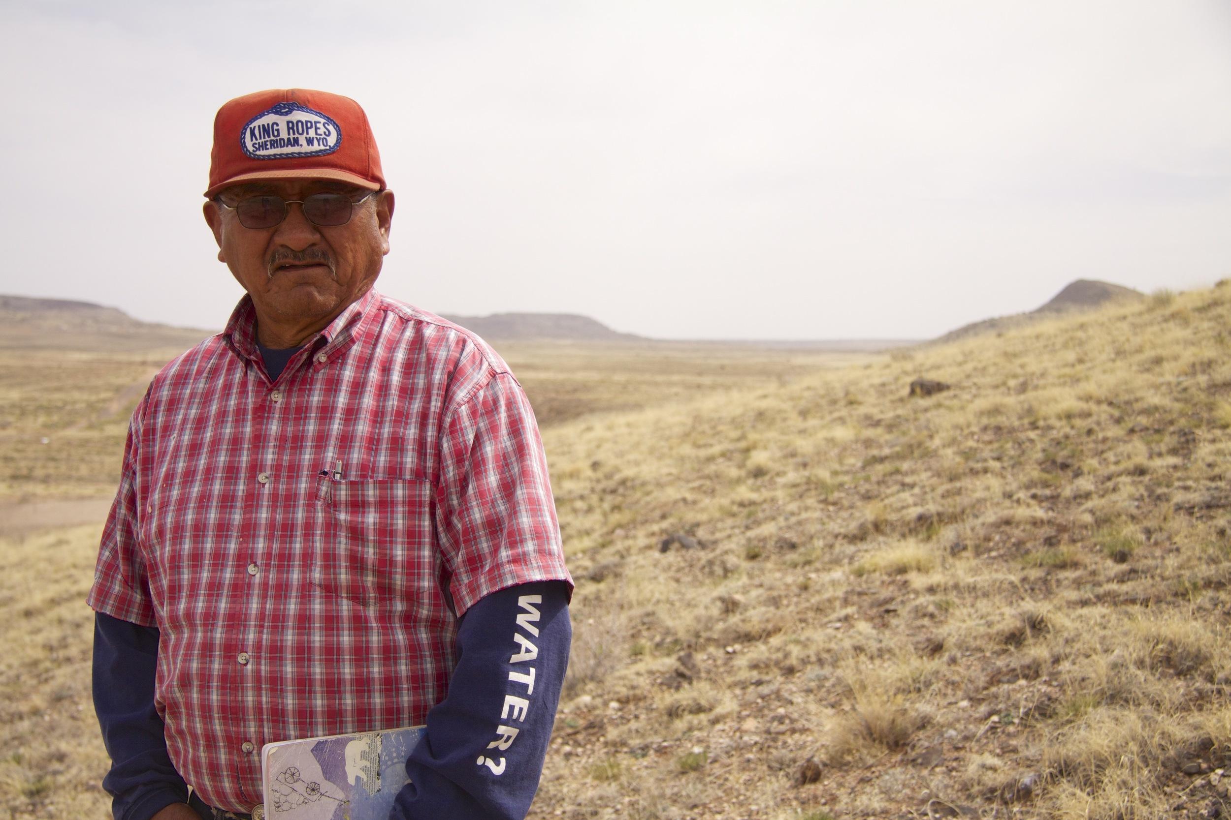 Woody Benally of Navajo Tribal Water Resources in Dilkon, Ariz. His t-shirt sleeve reads: Got Water?