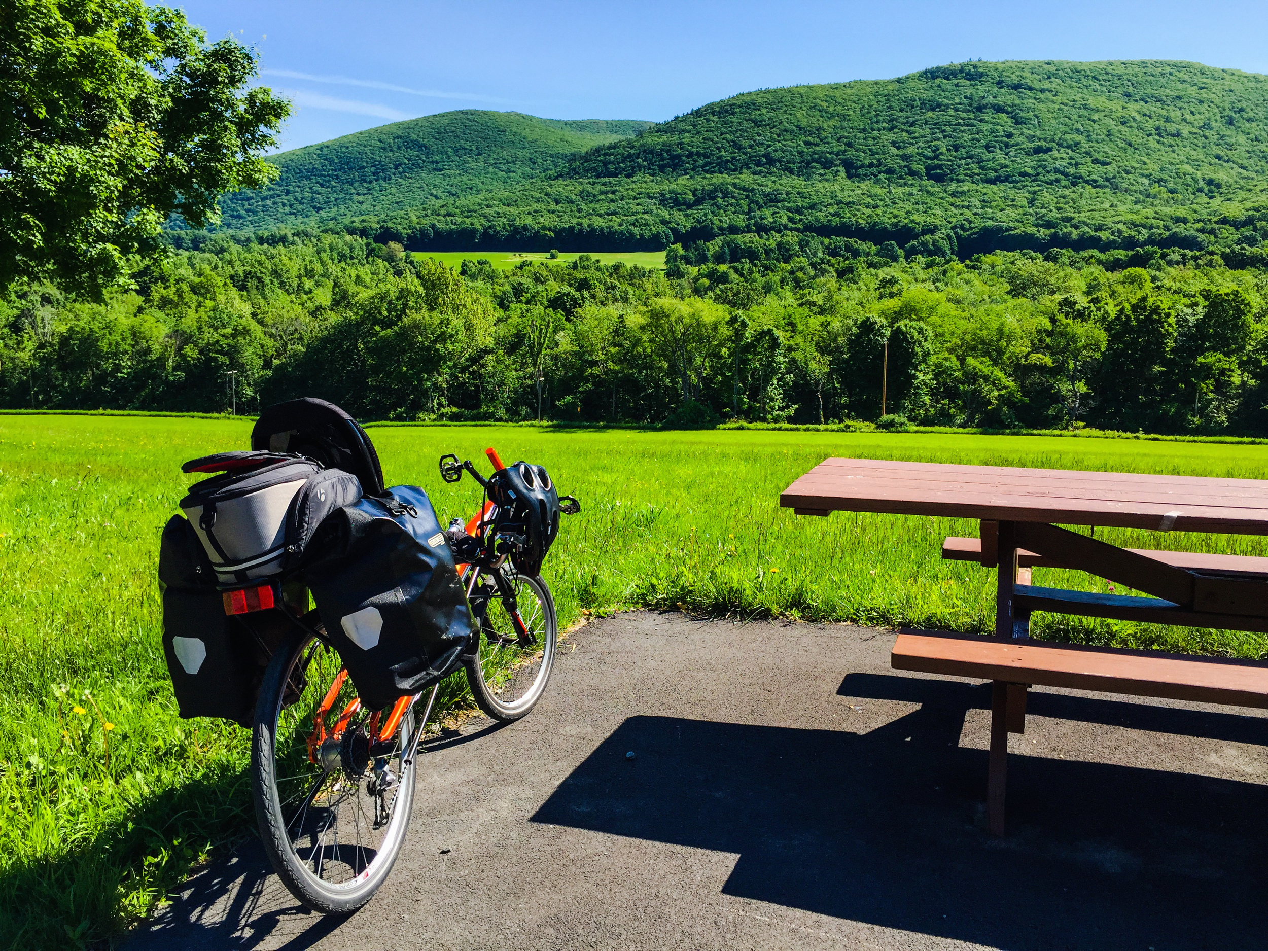 My Streetmachine on a weekend self-supported overnighter through the Taconic Range of eastern New York.