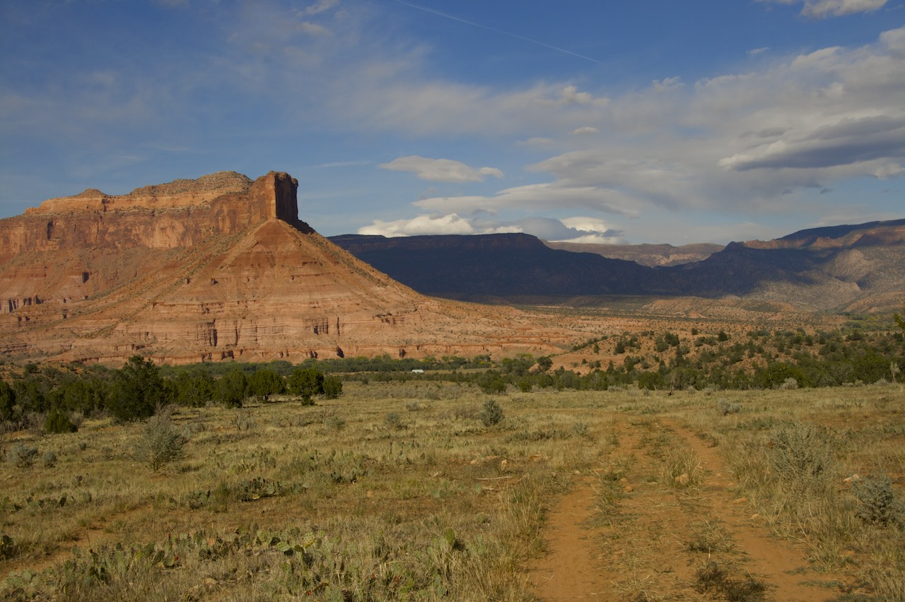 The Palisade towers over Gateway and Gateway Canyon Resort. © 2009 by Bobby Magill