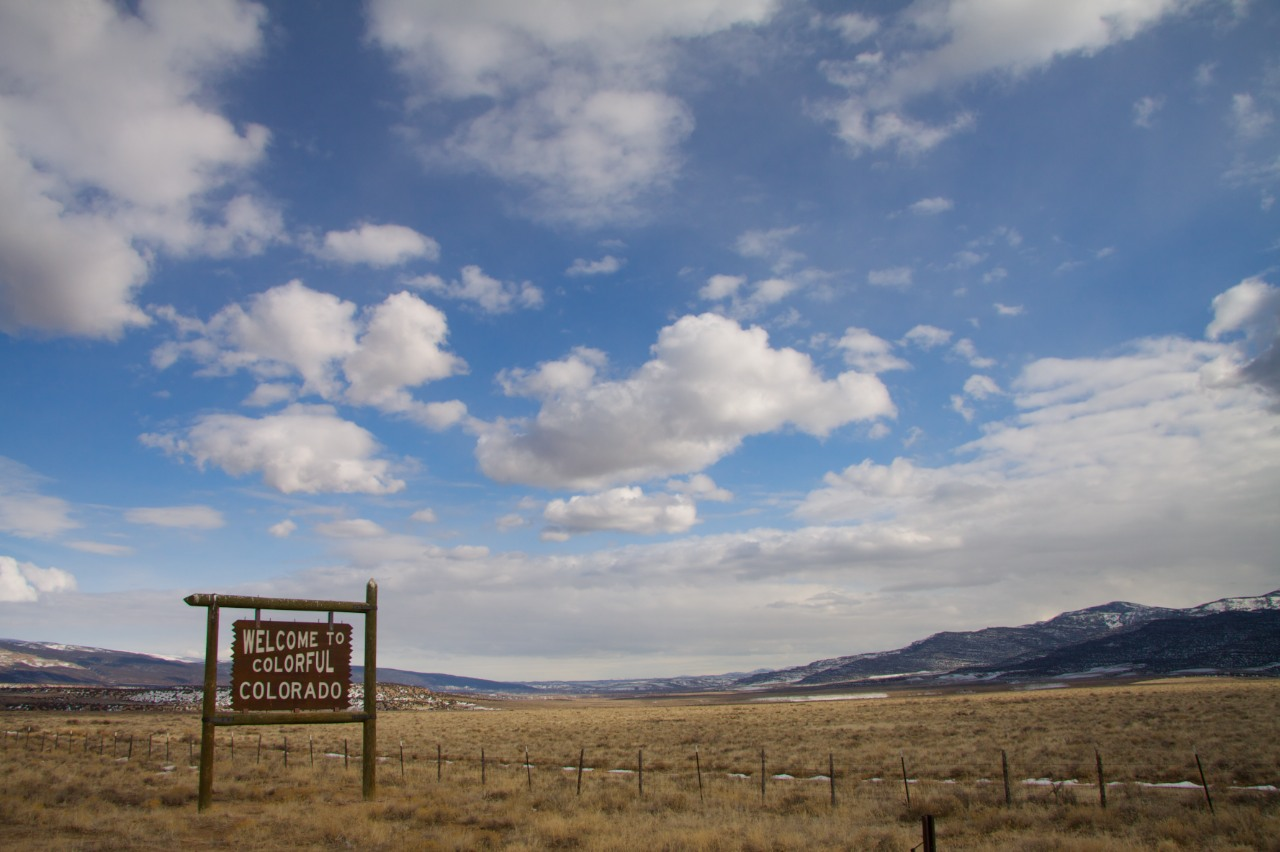 Welcome to the northwest corner of Colorado. Colo. Highway 318 along the Green River. Photo by Bobby Magill, Feb. 2010.