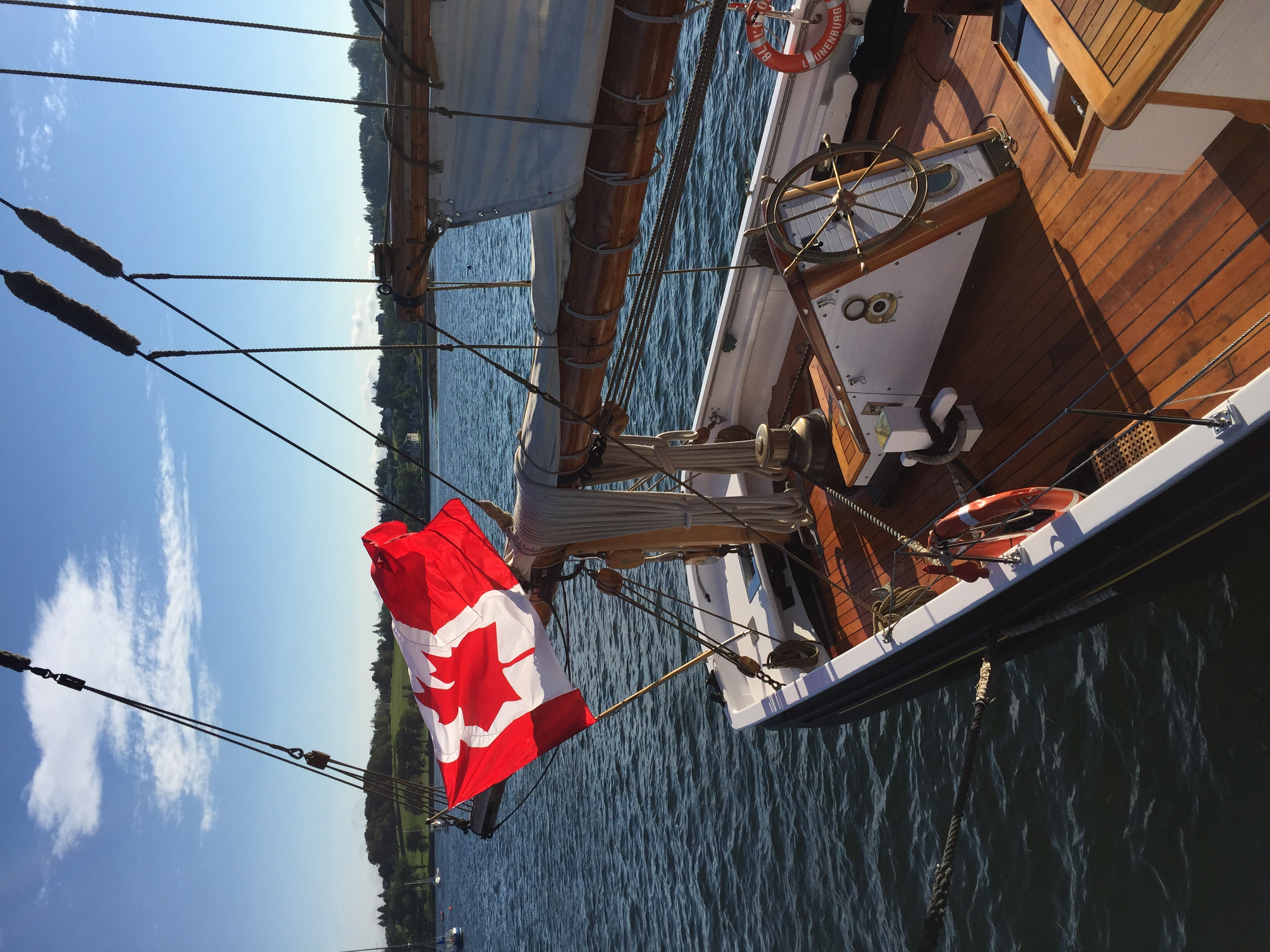 The Blue Nose II schooner in Lunenburg.