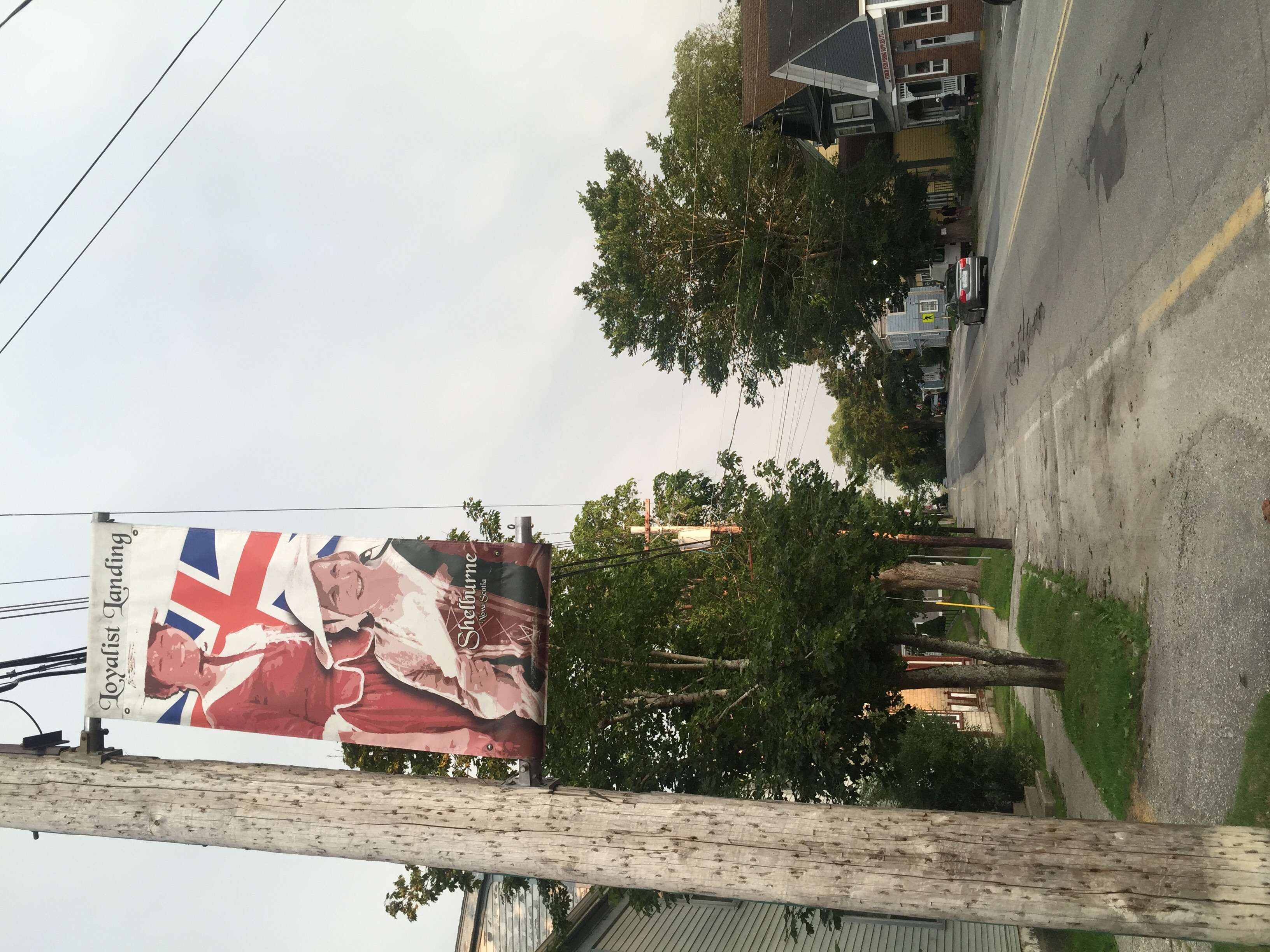 Shelburne was founded by English loyalists during the Revolution, and the town is quite proud of it. There are more Union Jacks flying here than maple leaves.