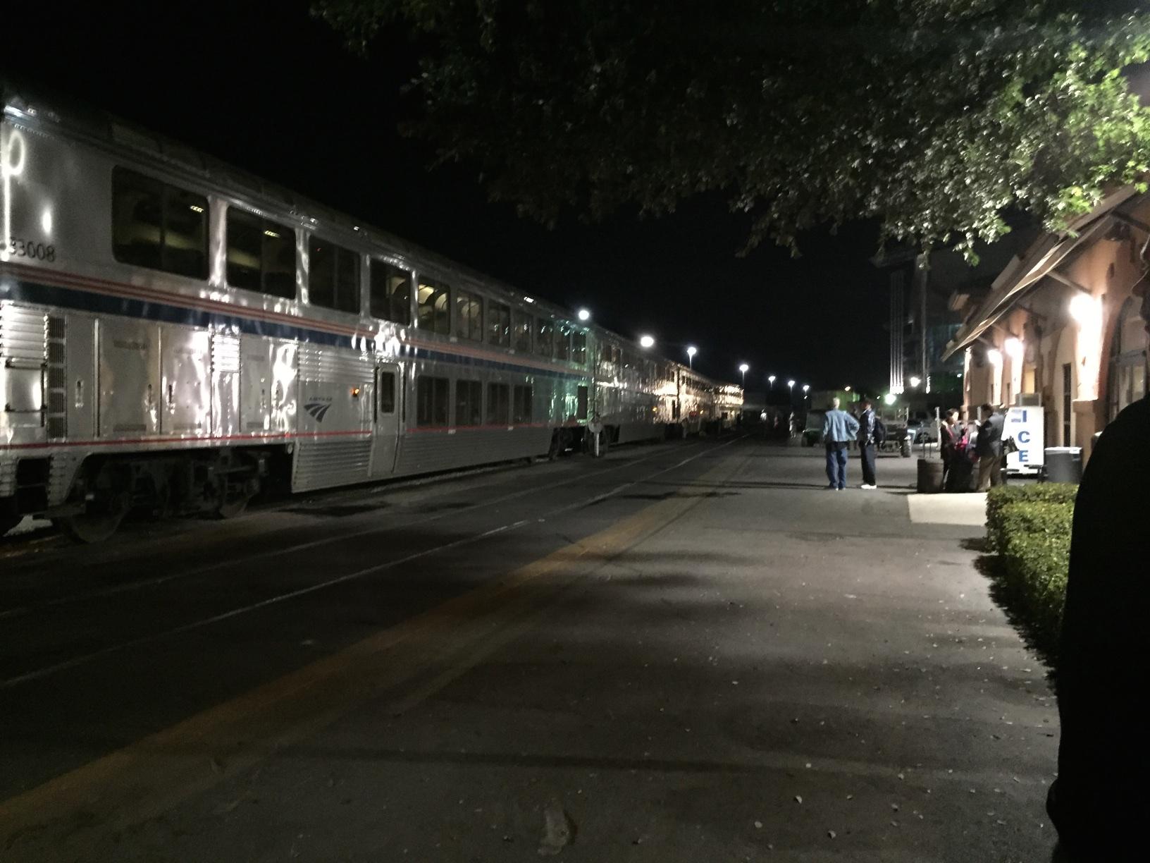 The San Antonio Amtrak station.