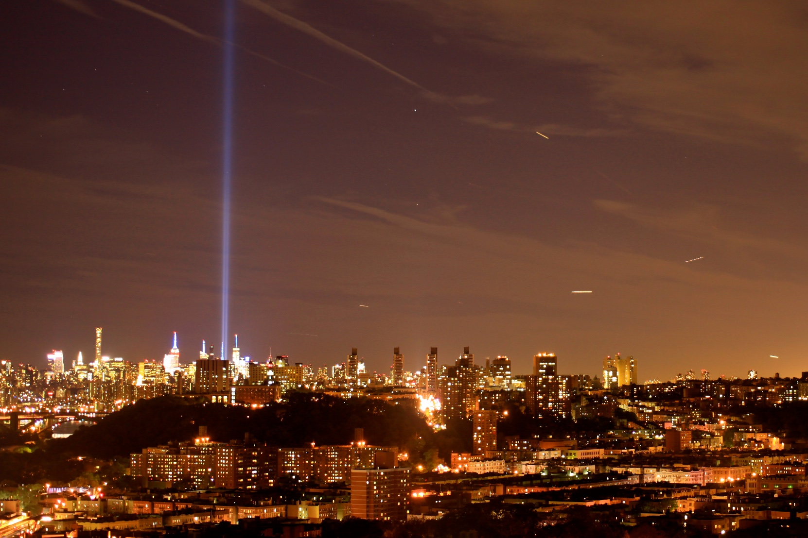 The Manhattan skyline seen from Marble Hill. © Bobby Magill