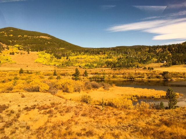 This trip was timed perfectly with the Rockies' fall colors. © Bobby Magill