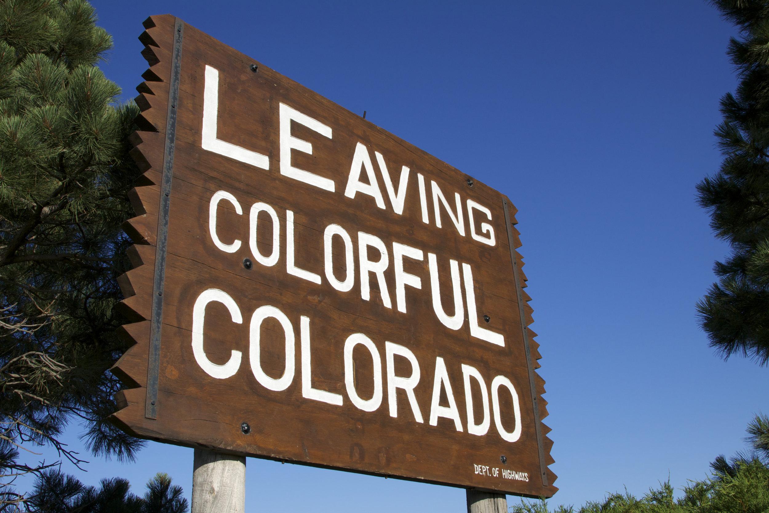 Leaving Colorful Colorado