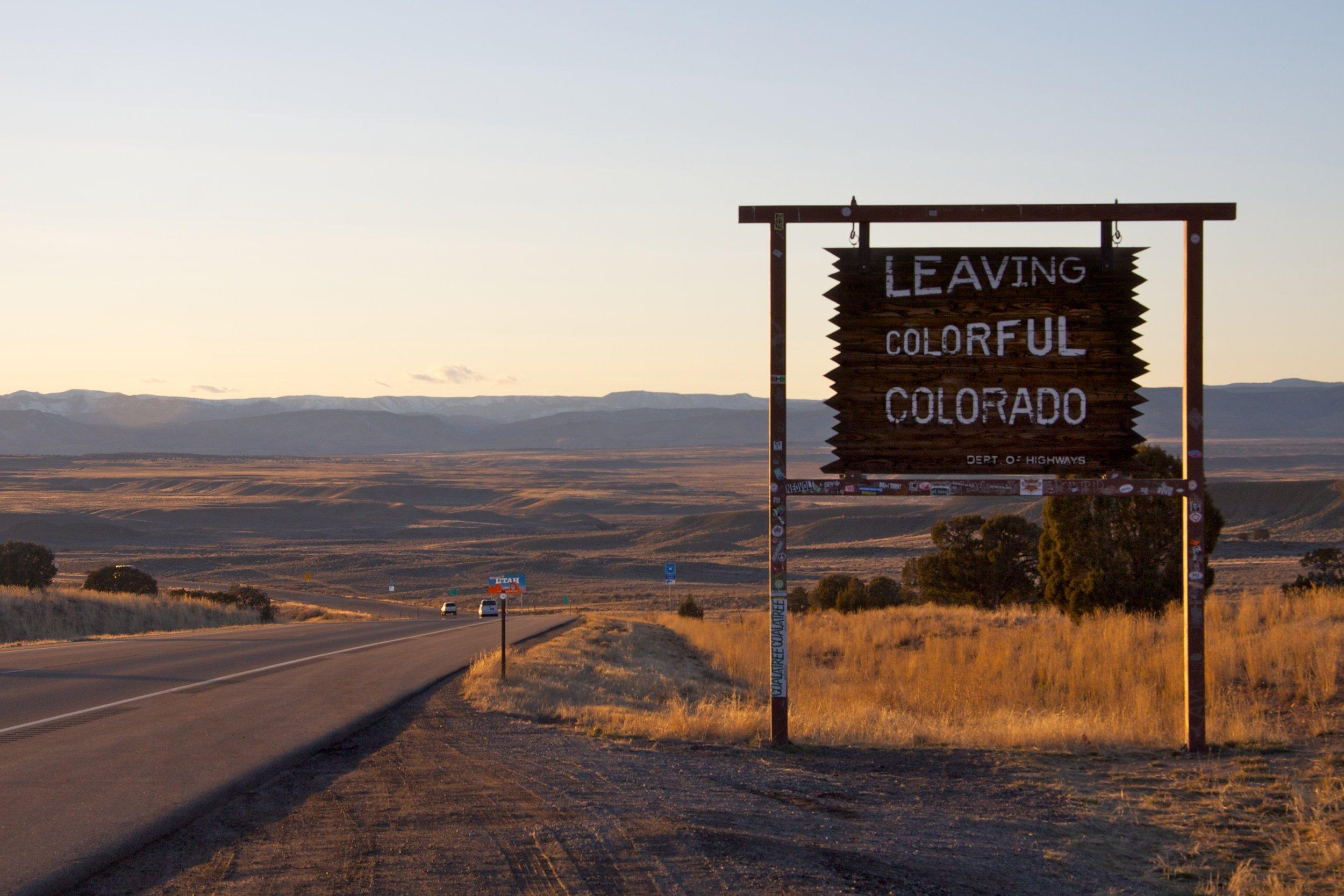 Leaving Colorful Colorado, I-70, Mesa County