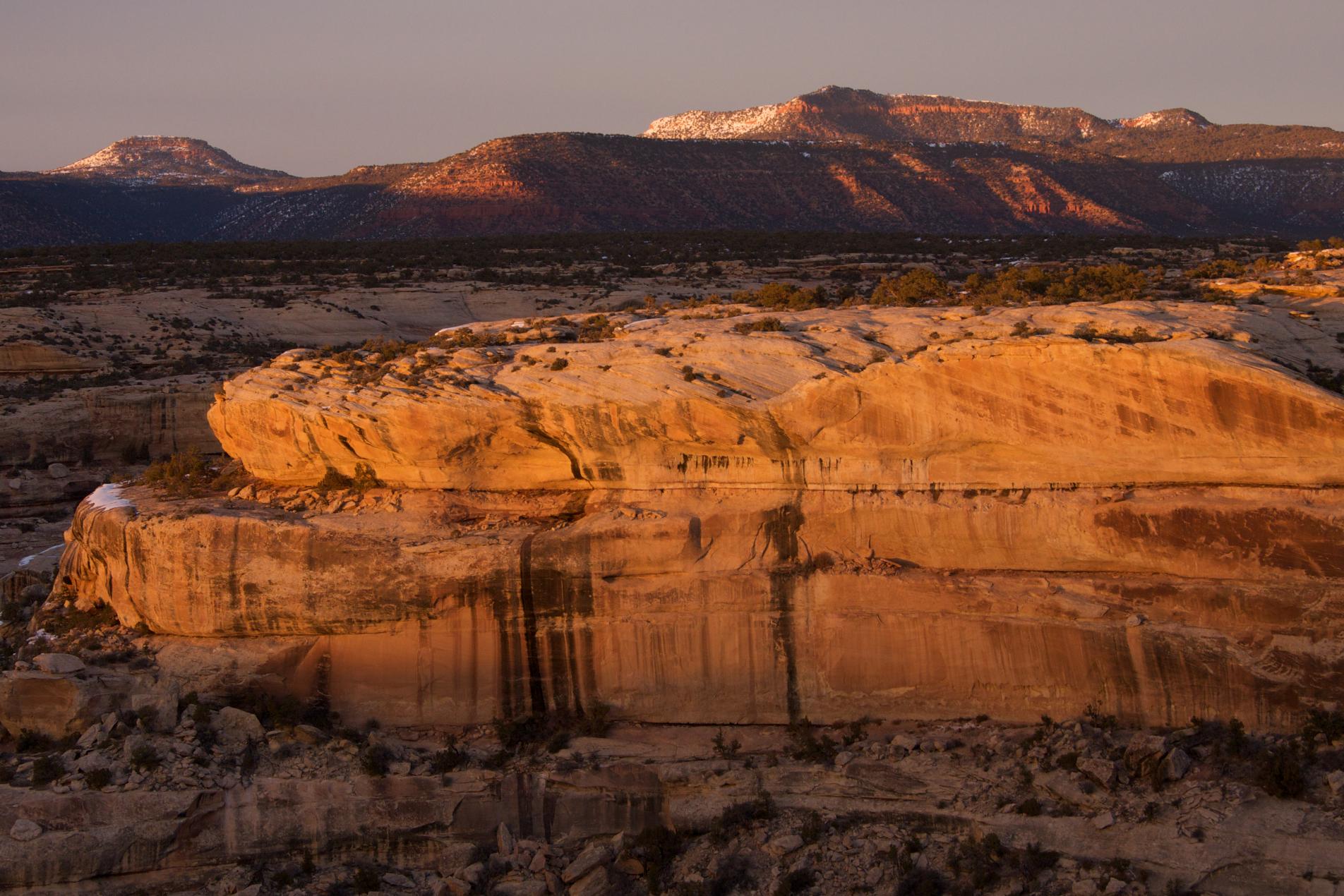 White Canyon Sunset