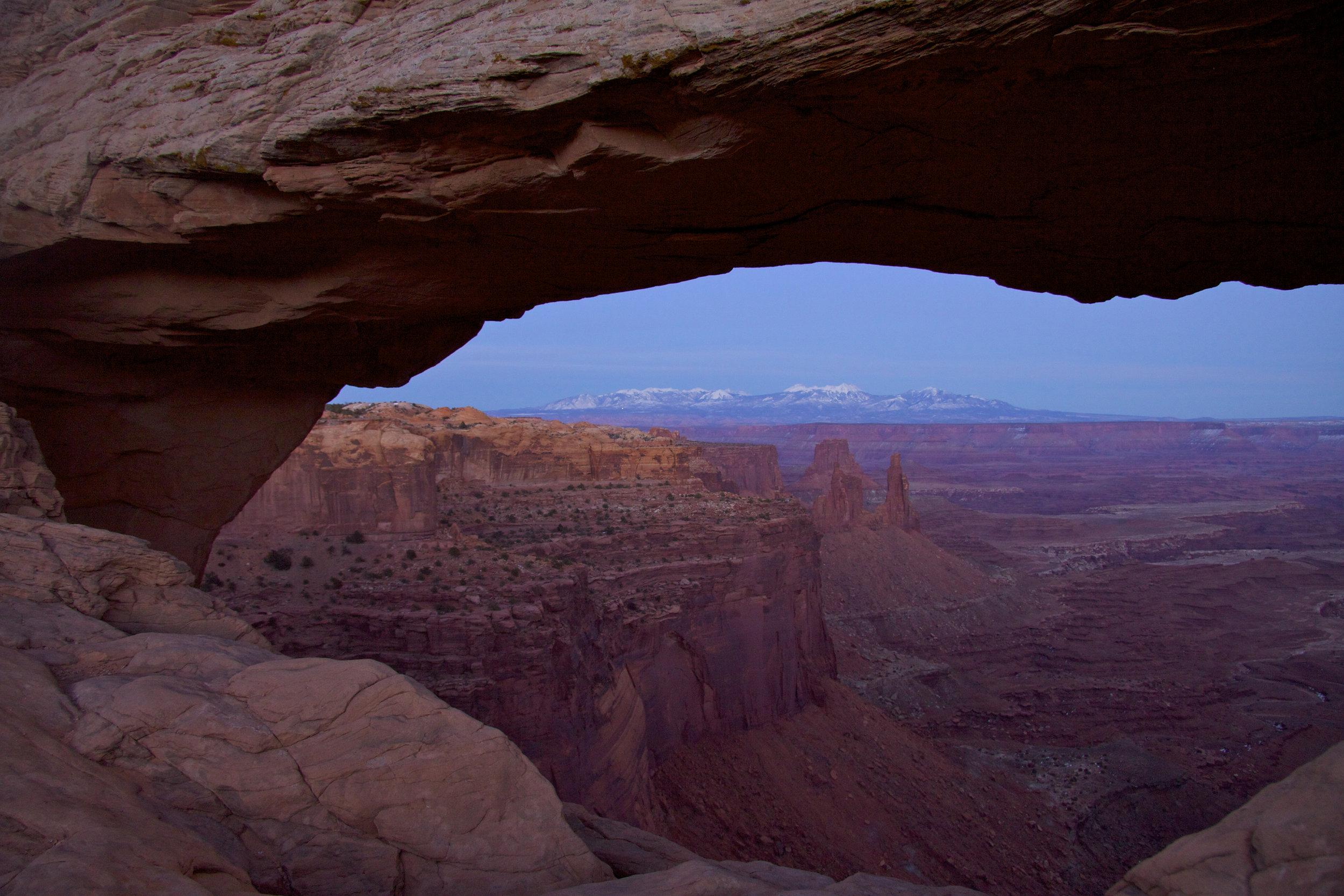 Mesa Arch After Dark