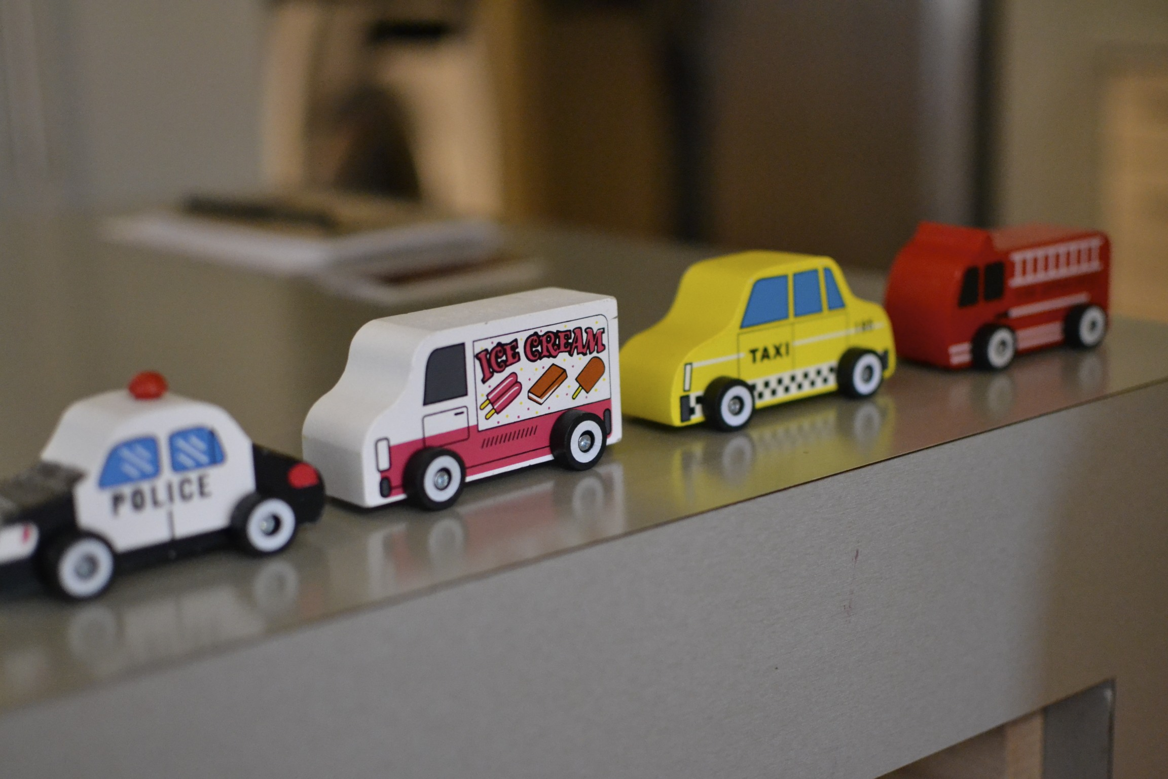 new wooden little cars from the dollar tree...that's right...$1 a piece! love a deal like that.