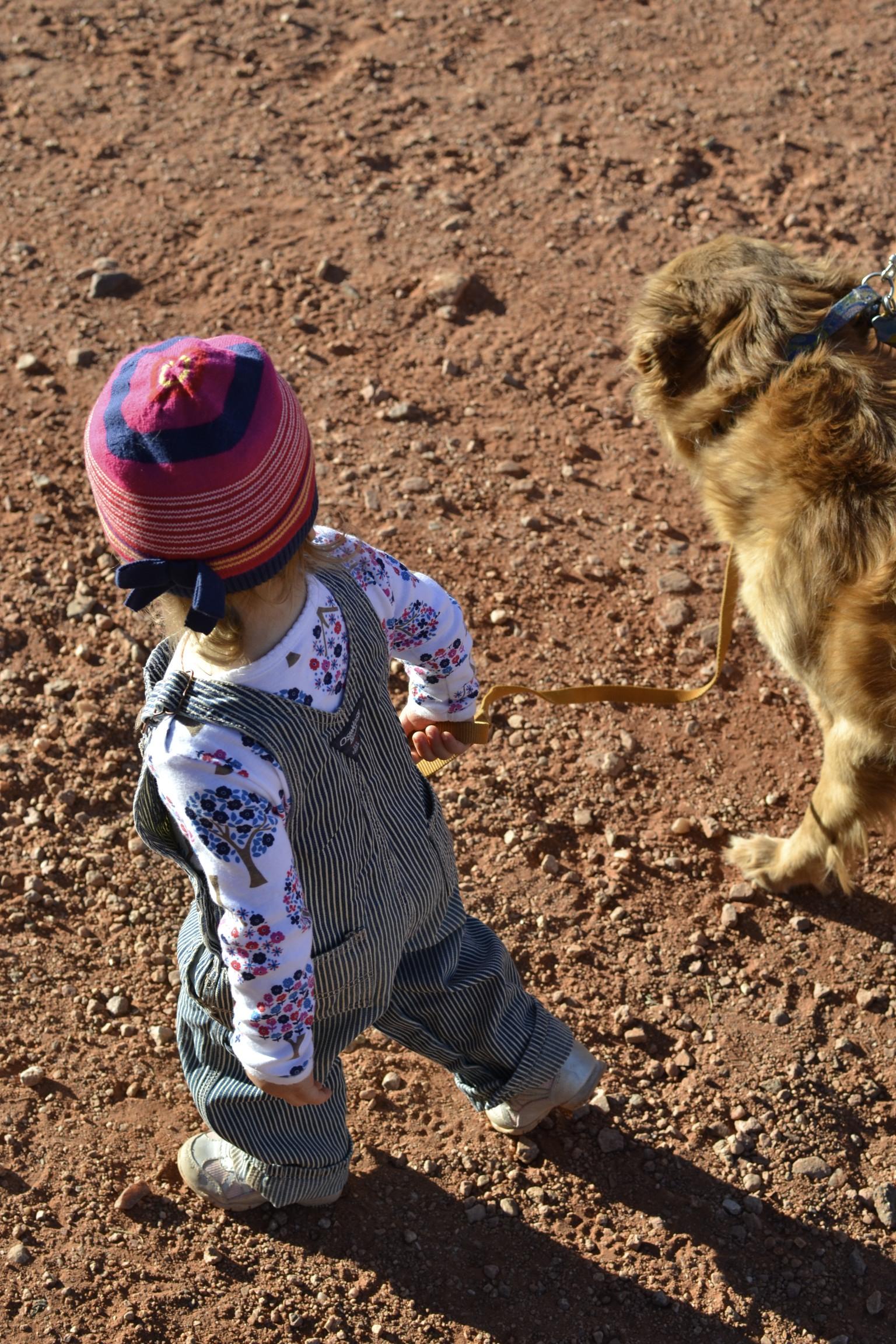 helping mamma walk riley