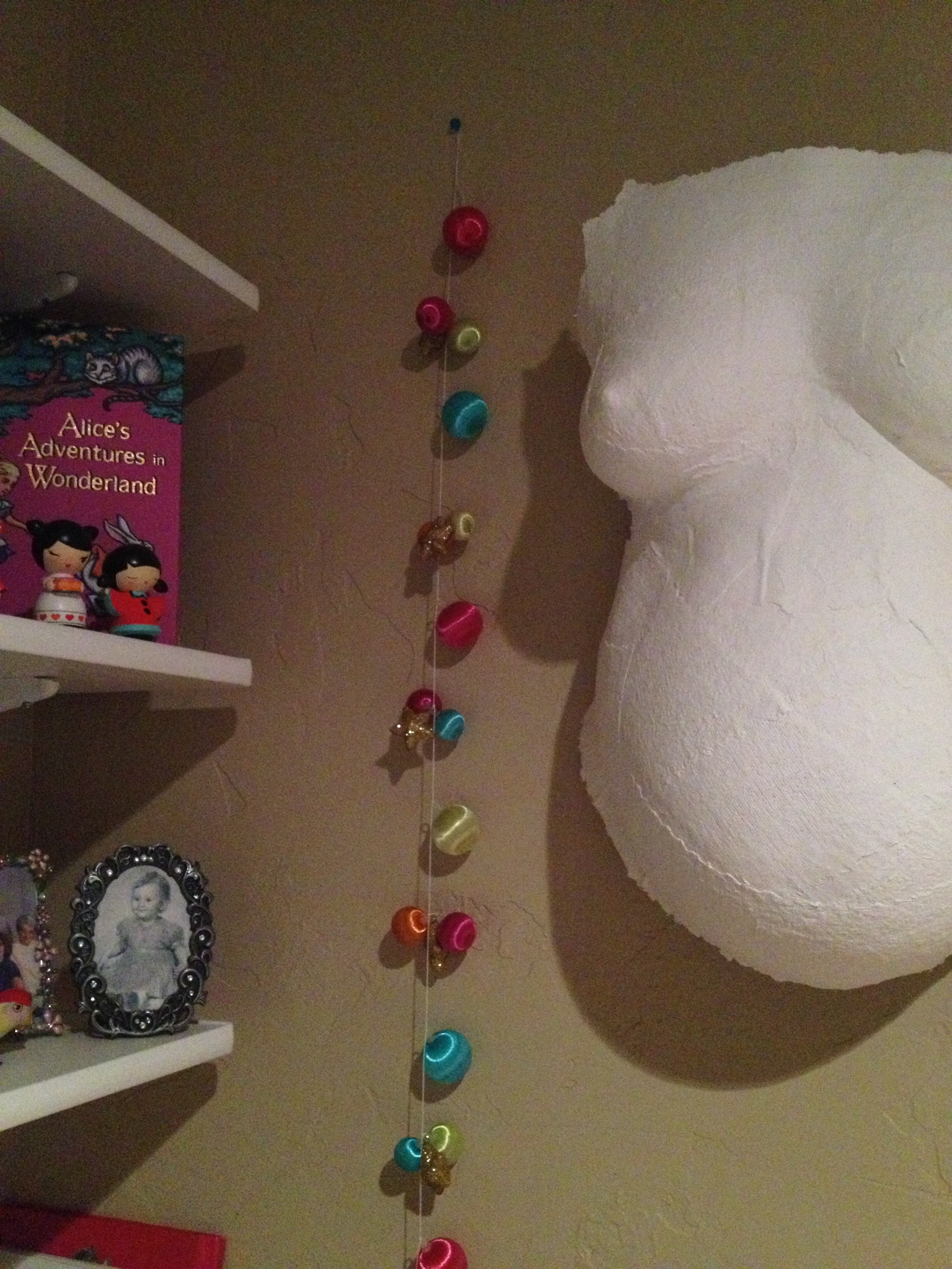 adding a little sparkle to this corner of the bird's room