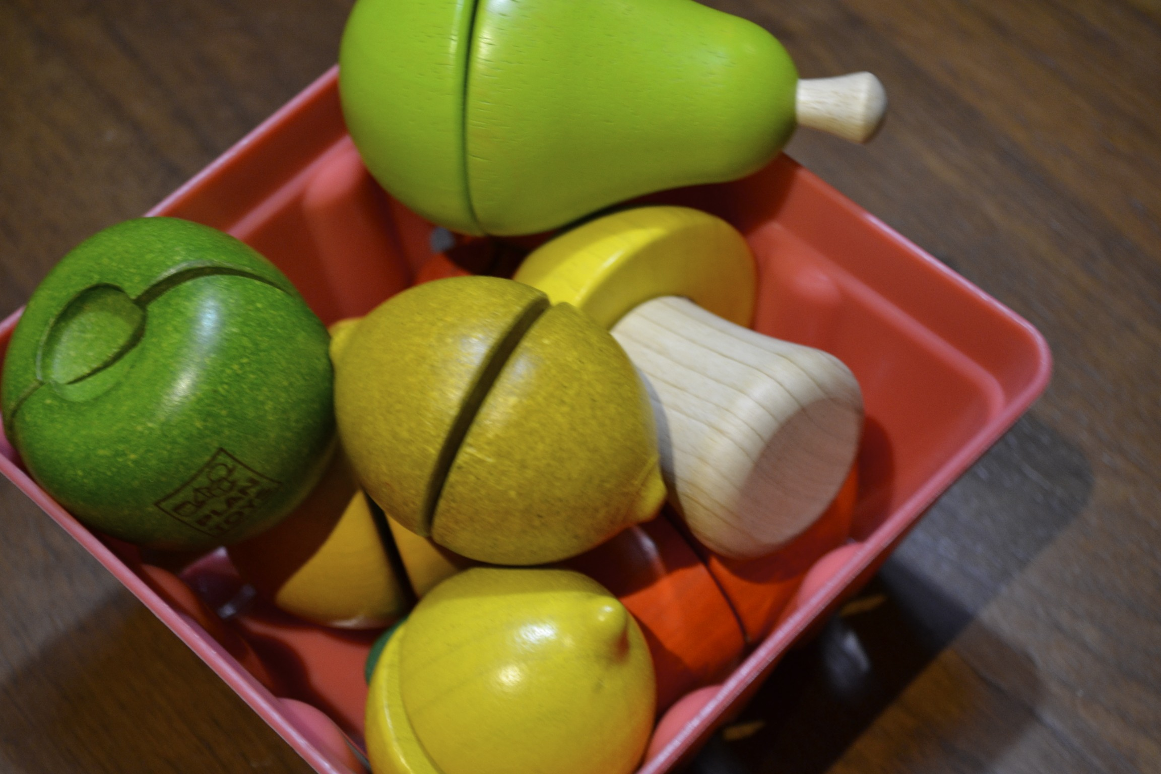 advent goodies from the month...wooden fruits and veggies