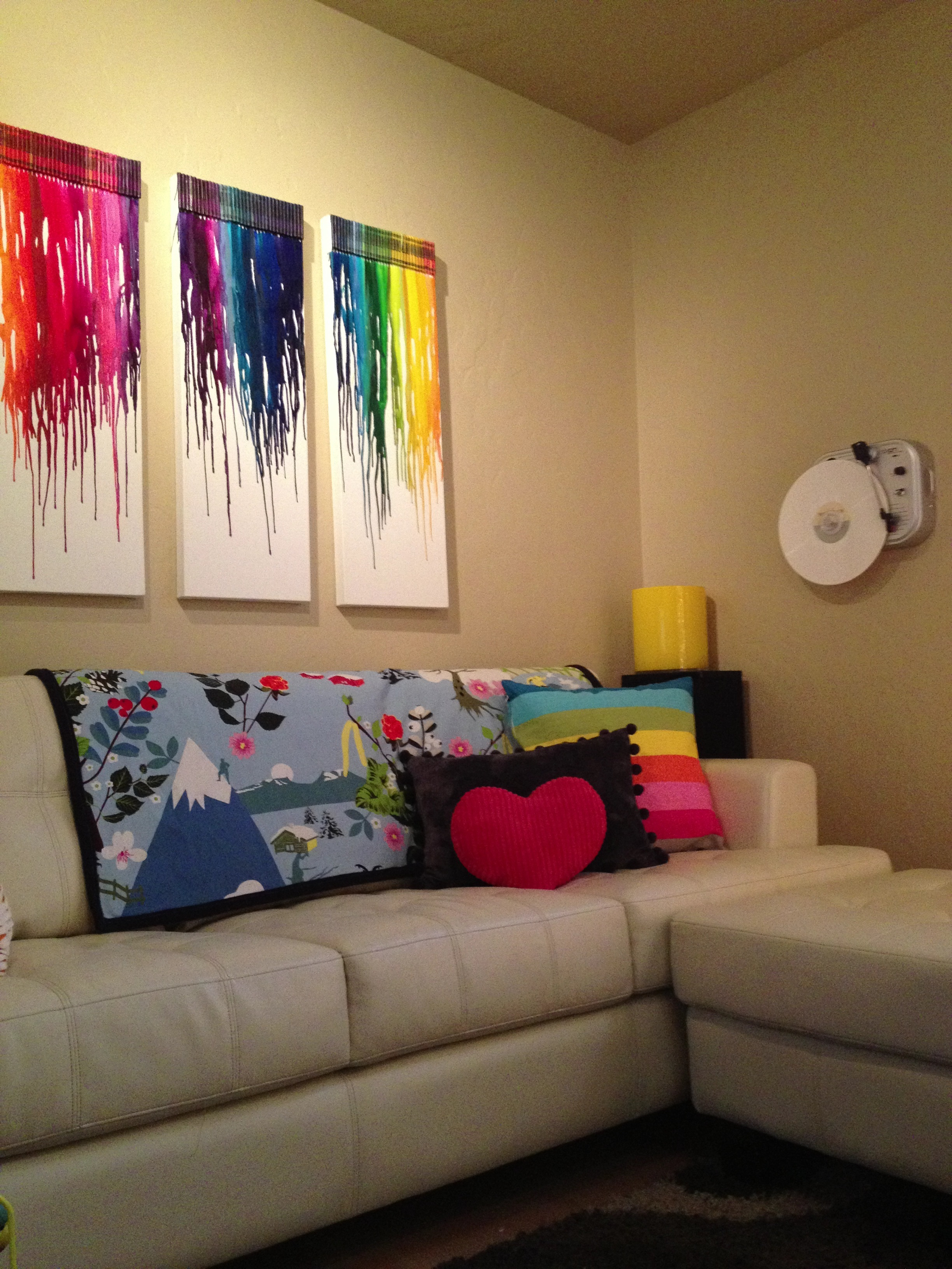 our colorful family room