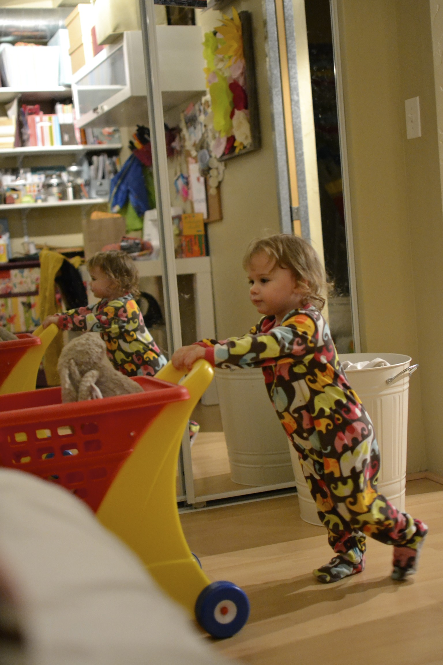 shopping with bunny before bed